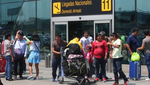 Según la institución, el crecimiento se debería a la incorporación de rutas interregionales entre Cusco, Pisco, Trujillo e Iquitos. (Foto: ANDINA)