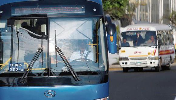 Sin salida. El municipio del Callao rechaza el corredor Javier Prado porque –dice– se variarán rutas que ha autorizado, como las de Orión. (Alonso Chero / El Comercio)