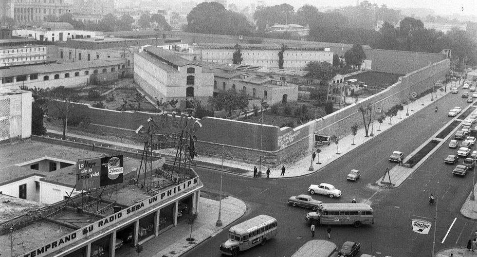 Vista panorámica de la antigua Penitenciaría Central de Lima en junio de 1961, poco antes de su demolición. (Foto: Archivo Histórico El Comercio).