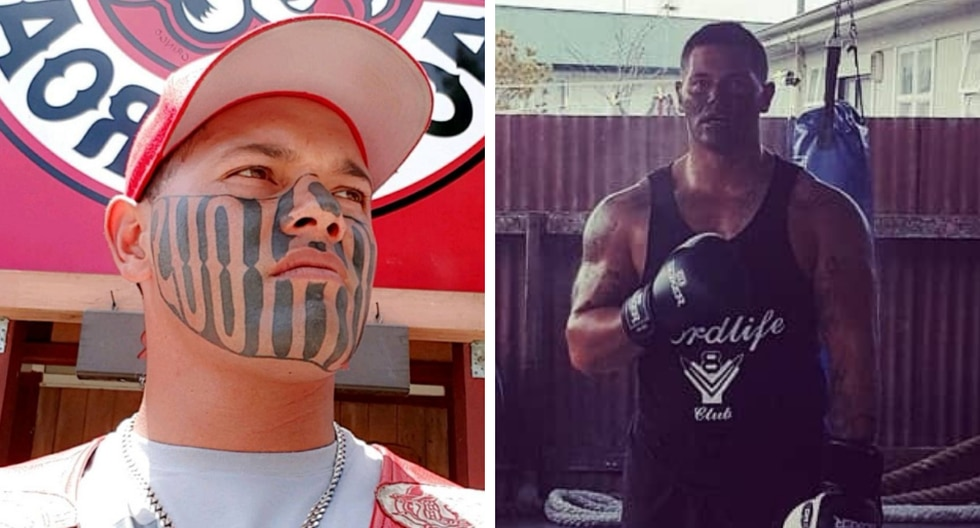 Un ex convicto con un enorme tatuaje en el rostro asegura que ya dejó atrás su tormentoso pasado y quiere comenzar de nuevo. (Fotos. Puk Kireka en Facebook)