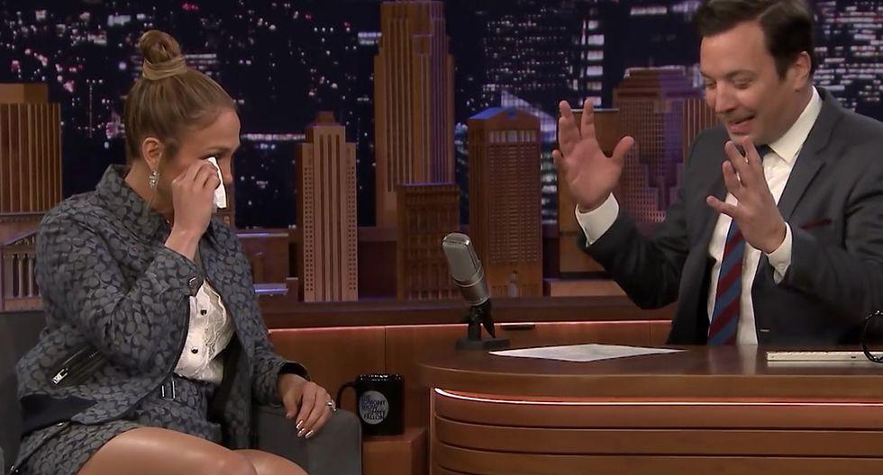 Jennifer Lopez llora de emoción al recordar su actuación en el Super Bowl. (YouTube)