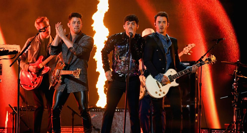"""Los estadounidenses cantaron """"Sucker"""", """"Jealous"""" y """"Cake by the Ocean"""". (Foto: Agencias)"""