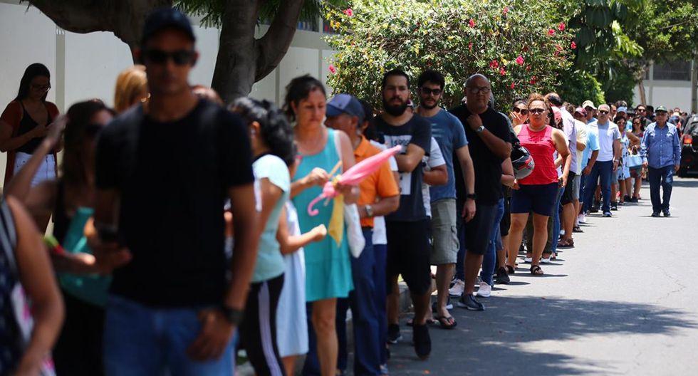 Más de 24 millones de peruanos acudieron este domingo a las urnas para elegir a los nuevos miembros del Congreso de la República.  (Foto: Hugo Curotto/ GEC)