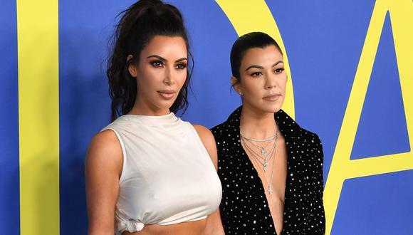 Kim Kardashian y su hermana Kourtney se agarran a golpes en la nueva temporada de su reality. (Foto: AFP)