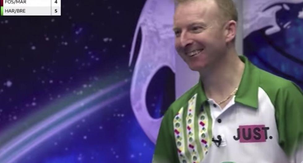 El tiro imposible de Nick Brett durante el Mundial de Bochas celebrado en Inglaterra. El video es viral en las redes sociales. (YouTube)