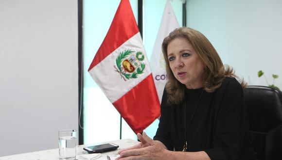 María Isabel León, presidenta de Confiep. (Foto: Manuel Melgaar | GEC)