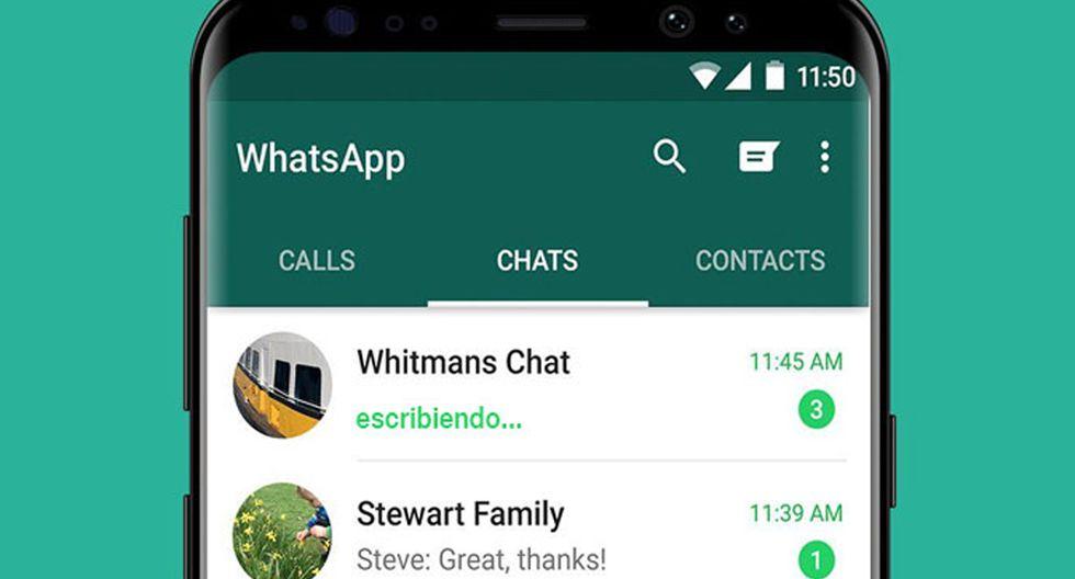 como ocultar el mensaje escribiendo en WhatsApp