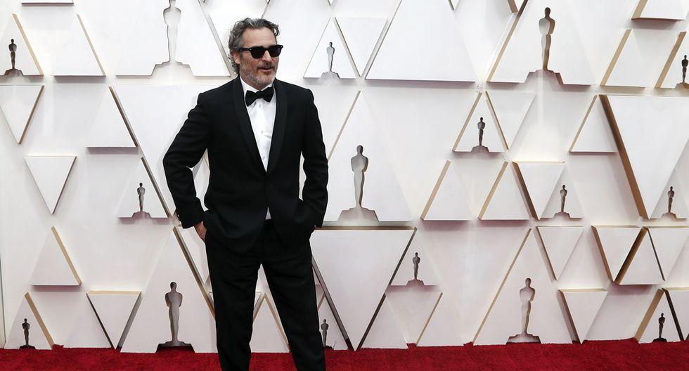 Joaquin, Phoenix en la alfombra roja de los Oscar 2020.