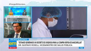 """Minsa publicará Decreto de Urgencia para compra de mascarillas como """"bien público"""""""