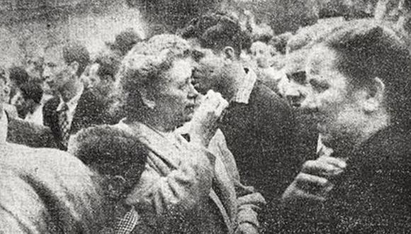 La nave peruana B.A.P. Rímac arribó al puerto del Callao trayendo de Europa a compatriotas que fueron recibidos por un numeroso público en setiembre de 1947. (Foto: Archivo Histórico El Comercio)