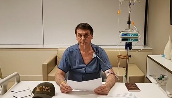 Jair Bolsonaro fue dado de alta tras someterse a su cuarta intervención en lo que va del año. (Foto: Captura de video).