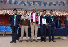 Cuatro de los mejores estudiantes de matemáticas del país son de Huancavelica
