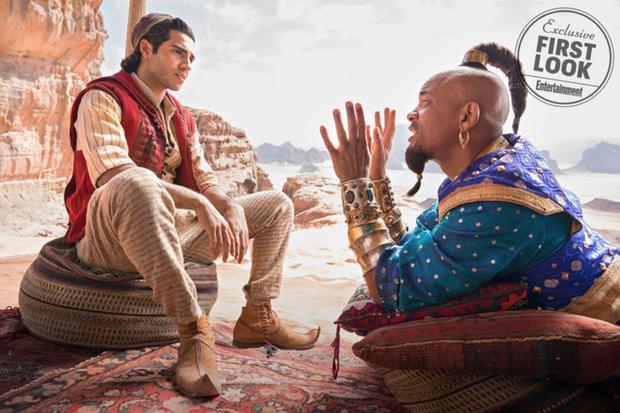 Mena Massoud is Aladdin and Will Smith is the Genie (Photo: Disney)