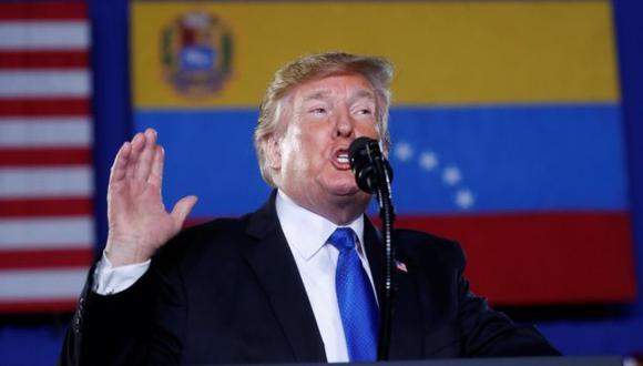 Donald Trump se enfrenta a una encrucijada en Venezuela. Foto: