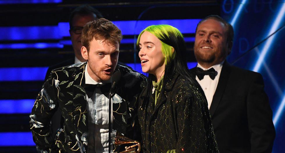 """Billie Eilish se llevó la estatuilla a Grabación del Año por su sencillo """"Bad guy"""". (Foto: AFP)"""