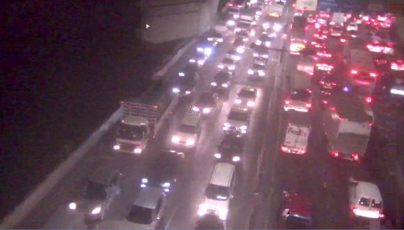 Gran congestión en la Vía de Evitamiento. (Lamsac)