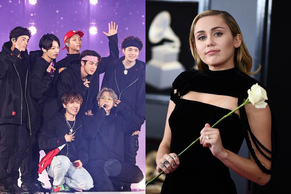 BTS y Miley Cyrus fueron algunos de los olvidados en la lista de nominados a los Grammys 2020. (Foto: Difusión)