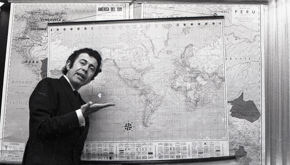 LIMA, 30 DE MAYO DE 1969  VISTA DEL INDUSTRIAL PESQUERO PERUANO LUIS BANCHERO ROSSI EN UNA CONFERENCIA.  FOTO: EL COMERCIO