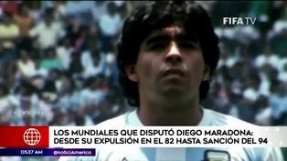 Los Mundiales de Diego Maradona antes de su sanción del 94