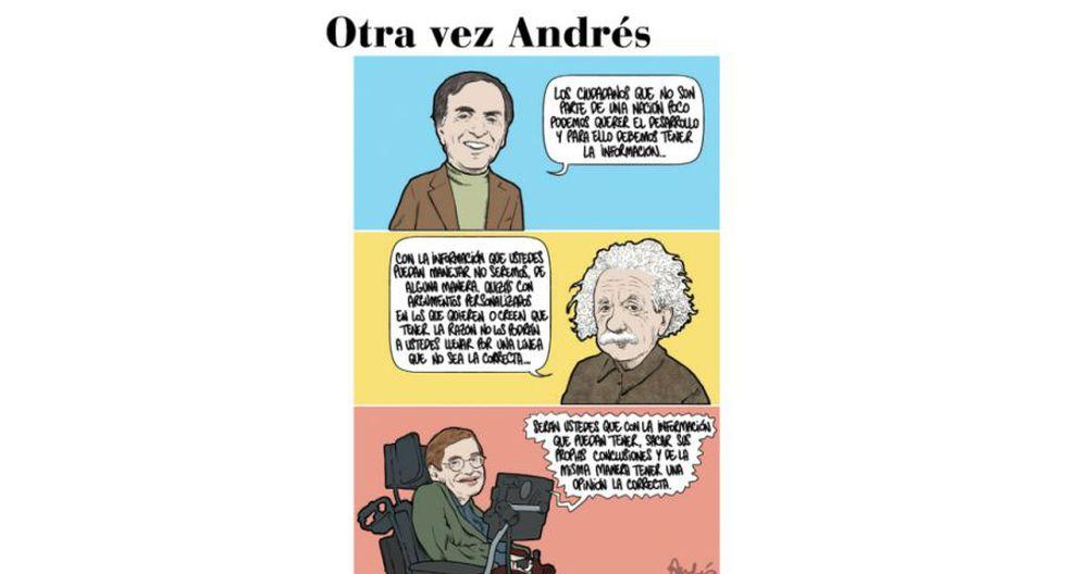 Karina Beteta, Carl Sagan, Einstein, Hawking y su indescrifrable discurso, por Andrés Edery