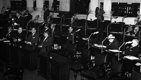Sesión del Congreso de la República realizada el 19 de agosto de 1960. (Foto: Archivo Histórico El Comercio)