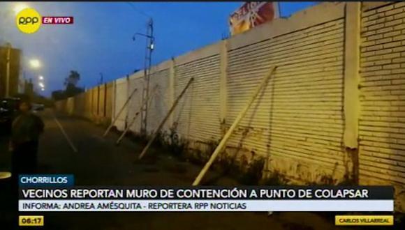 INS anunció que en los próximos días se procederá a demoler la estructura dañada.(Captura: RPP Noticias)