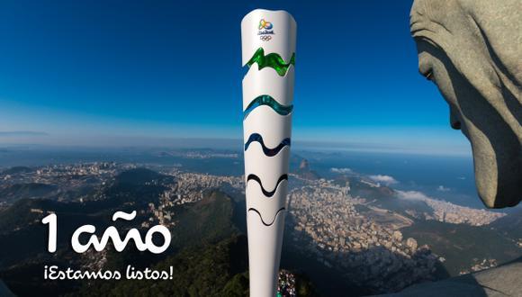 Río 2016: la imagen oficial a un año del inicio de los Juegos