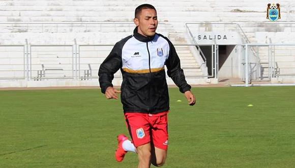 Jean Deza, aún jugador de Binacional. (Foto: Prensa Binacional)