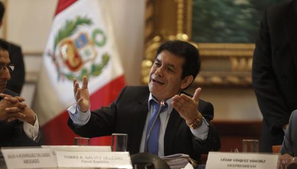 Fiscal Tomás Gálvez está implicado en el caso Los Cuellos Blancos del Puerto. (Foto: GEC)