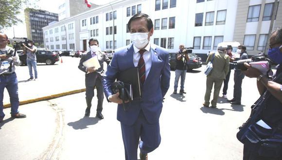 El congresista Carlos Almerí señaló que Podemos Perú no respaldará ley de impedimentos para postular. (Foto: GEC)