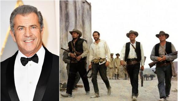 """Mel Gibson y la versión de 1969 de """"The Wild Bunch"""" (Foto: AFP / Difusión)"""