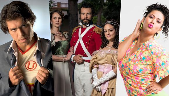 """De izquierda a derecha, imágenes promocionales de las series """"Misterio"""" (Movistar Play), """"El último bastión"""" (Netflix) y """"Al fondo hay sitio"""" (TV GO)."""