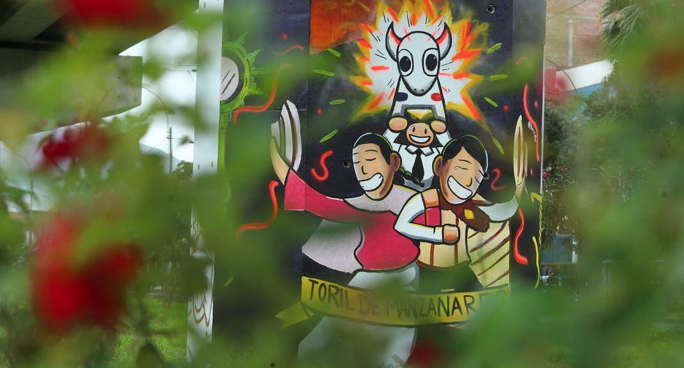 En la última jornada se pintaron murales con la temática basada en danzas folclóricas. (Foto: Alessandro Currarino)