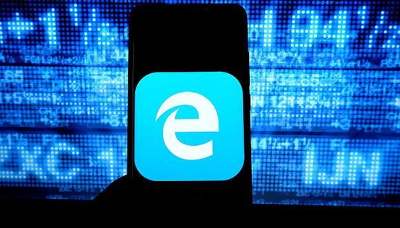 En esta ilustración fotográfica, se muestra el logotipo de Microsoft Internet Explorer. (Avishek Das/SOPA Images/LightRocket/ Getty Images).