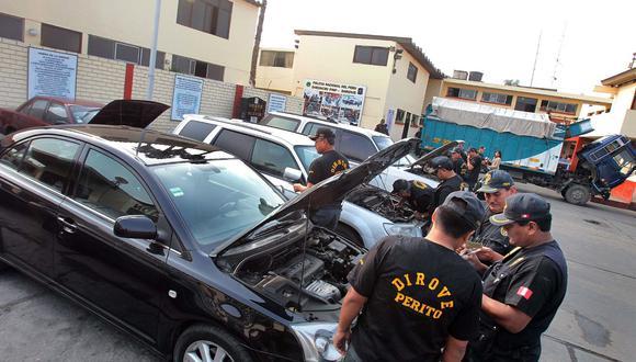 Los vehículos más robados son los de marca Toyota, Nissan, Hyundai. (Foto: Andina)
