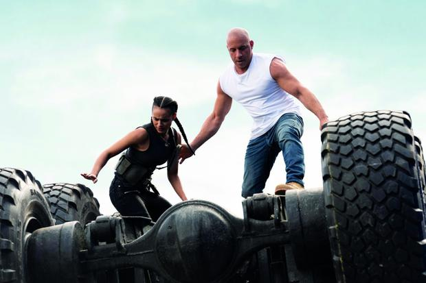 Vin Diesel and his 'family' return in another new installment of the franchise, with even faster cars and even more furious people.  On this occasion, the retirement of Dom Toretto (Diesel) is threatened when some sins from his past resurface.  (Source: Universal Pictures)
