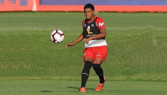 Kluiverth Aguilar entrenando con la selección peruana Sub-17. (Foto: Agencias)