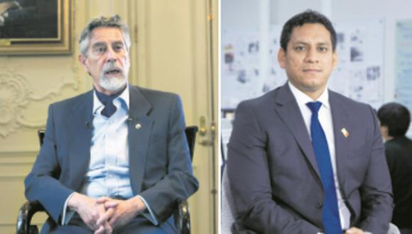 El  presidente Sagasti respondió ayer luego de que el congresista Valdez lo amenazara en el pleno. (Fotos: Alessandro Currarino / Eduardo Cavero)