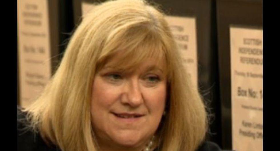 La mujer que anunciará los resultados del referéndum de Escocia