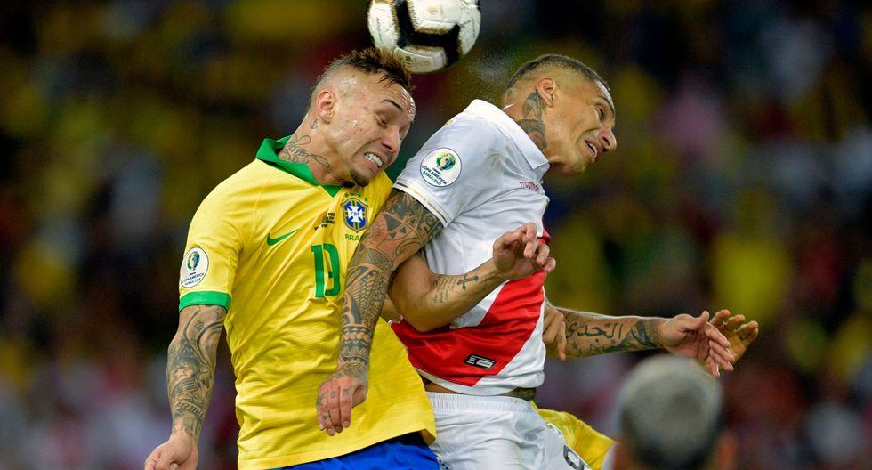 Paolo Guerrero y Everton fueron los máximos goleadores de la Copa América 2019   Foto: AFP
