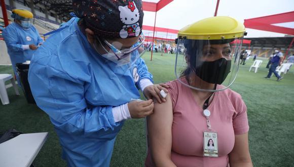 Vacunación contra el coronavirus continúa avanzando a nivel nacional. Foto: El Comercio / Referencial
