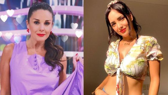 """Rebeca Escribens le aclara a Rosángela Espinoza que pasará si la 'serrucha' en """"América Espectáculos"""". (Foto: Composición/Instagram)"""