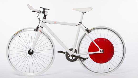 Una rueda para no cansarse al montar bicicleta