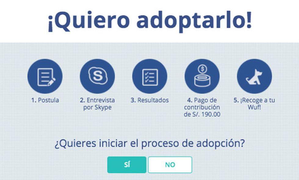 Para iniciar un proceso de adopción con WUF, ingresa a www.wuf.pe/adopta