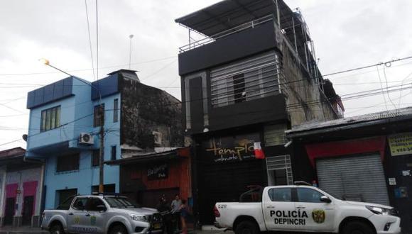 El local de Iquitos donde ocurrió el crimen en contra de un ciudadano extranjero. (Foto: Daniel Carbajal)