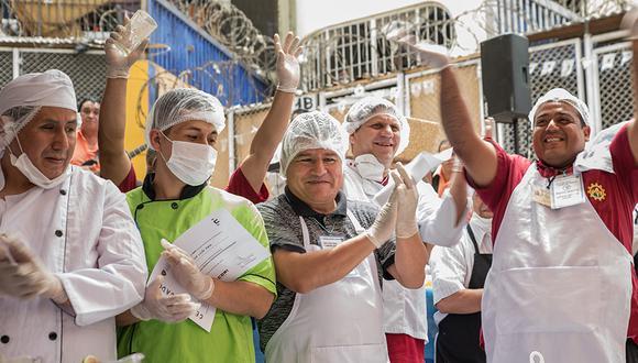 Concurso 'Cocina Optimista' en el penal Castro Castro. (Foto: Romina Vera)
