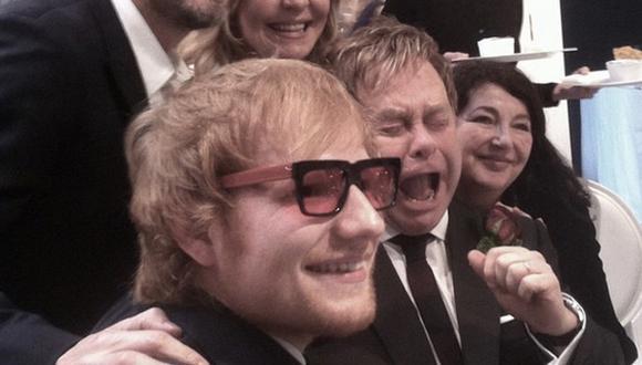 Ed Sheeran 'robó' los lentes de Elton John y él reaccionó así