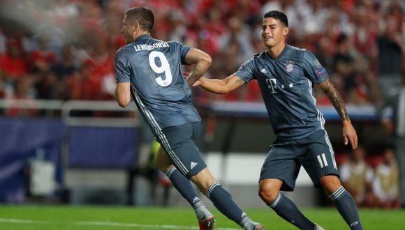 Lewandowski abrió el marcador ante Benfica por el Grupo E de la Champions League. (Foto: Reuters)