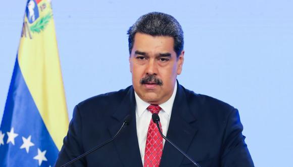 El presidente venezolano Nicolas Maduro mientras interviene virtualmente ante la Asamblea General de Naciones Unidas, desde Caracas (Venezuela). (Foto: EFE/ Prensa Miraflores).