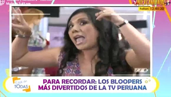 Los bloopers que quedaron registrados en la TV peruana. (Video: Captura América TV)